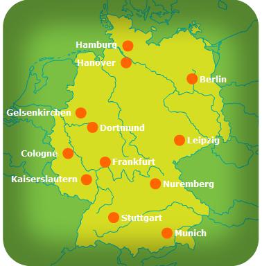 Germany Map Kaiserslautern